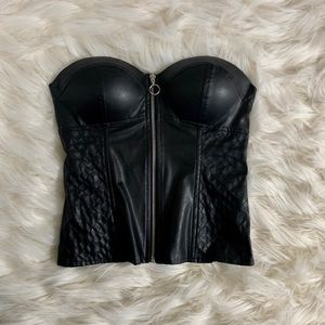 Charlotte Russe Faux Leather Tube top
